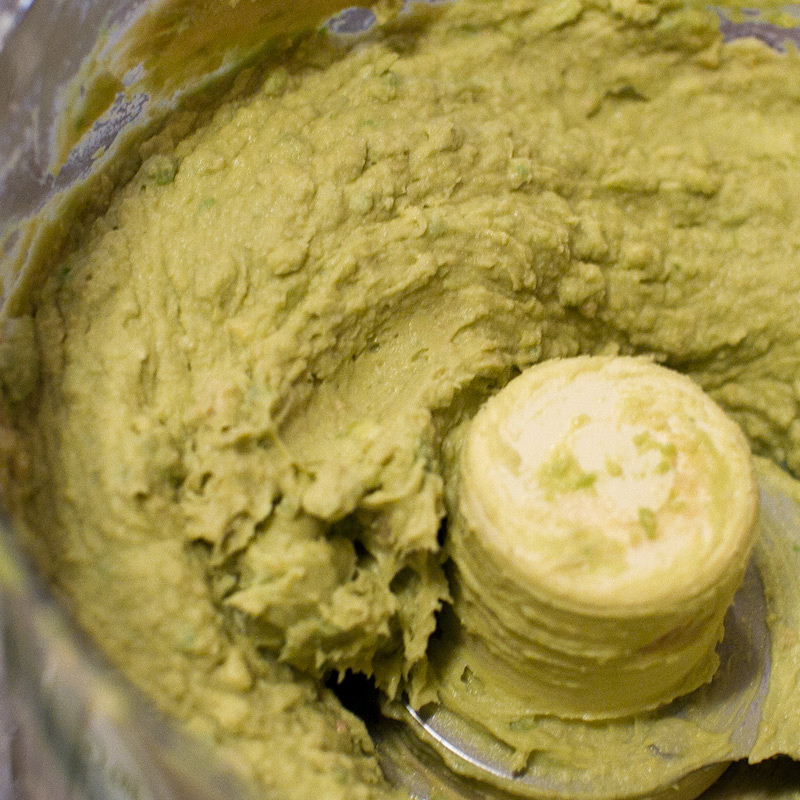 Add avocado and puree until smooth. Check to see if you need more salt.