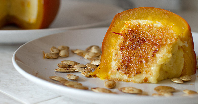 saffron and cardamom pumpkin cheesecake
