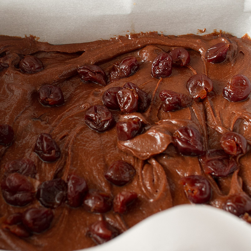 spicy drunk cherry brownies