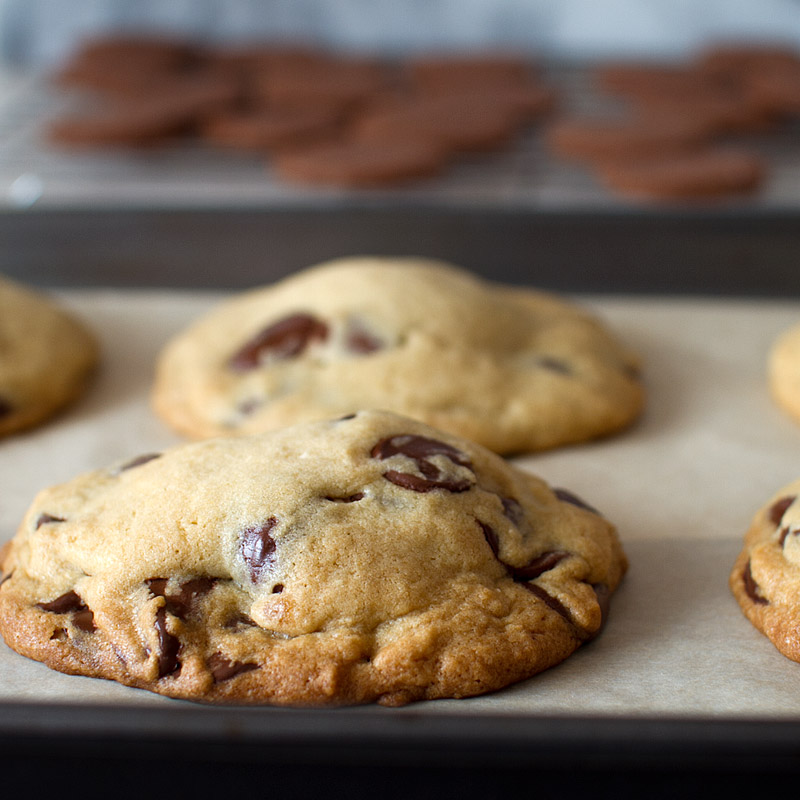 thin mint stuffed chocolate chip cookies