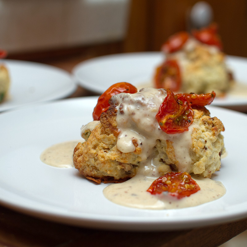 crab cakes garlic aioli roasted cherry tomatoes