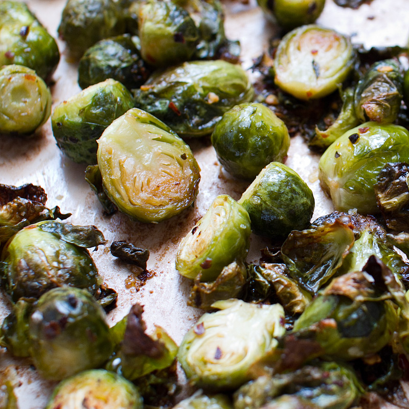 spicy crispy brussels sprouts