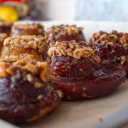 pretzel sticky buns with nutella and hazelnuts on FMITK
