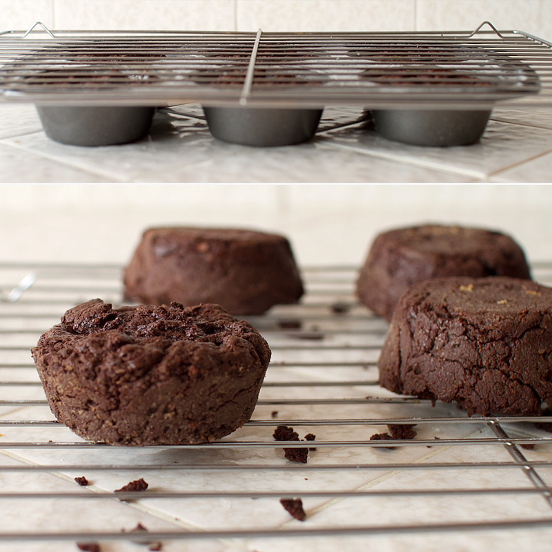 dark chocolate truffle cakes on FMITK