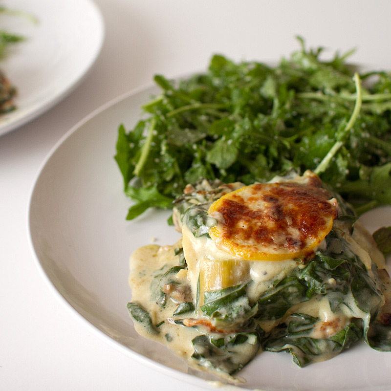 Swiss Chard, Mushroom and Lemon Lasagna