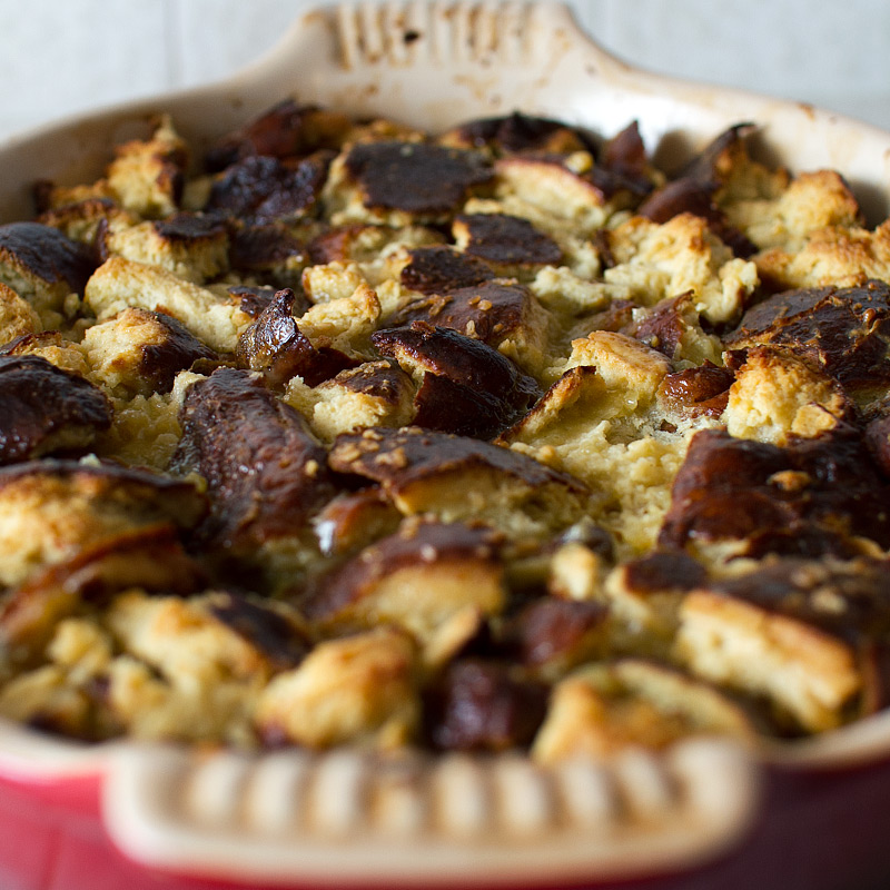 pretzel bread pudding with cardamom cajeta on FMITK.com