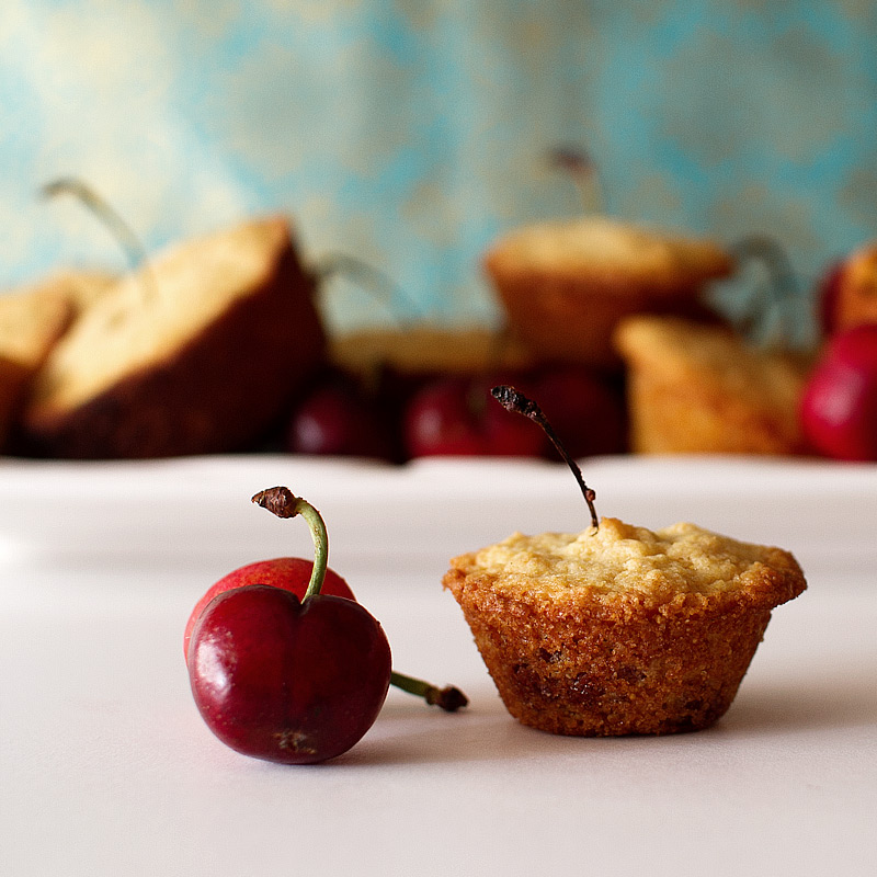 cherry cornbread muffin recipe on FMITK.com