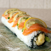 salmon lemon maki roll recipe on FMITK.com