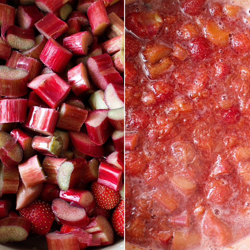 strawberry cardamom rhubarb jam recipe on fmitk.com