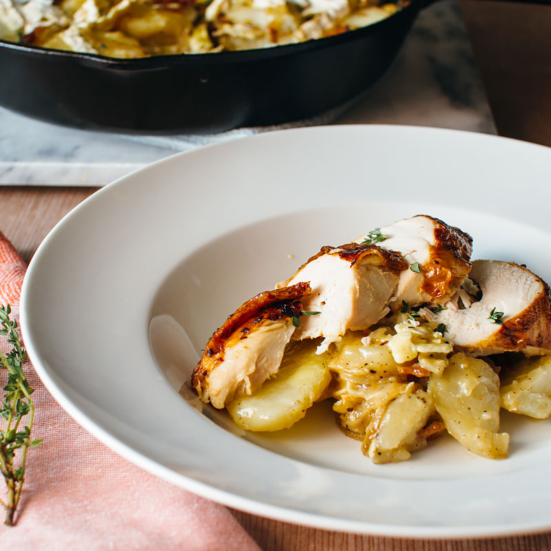 I'm cooking this in a cast iron skillet,