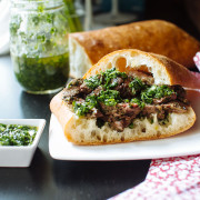 asian chimichurri steak sandwich recipe on fmitk.com