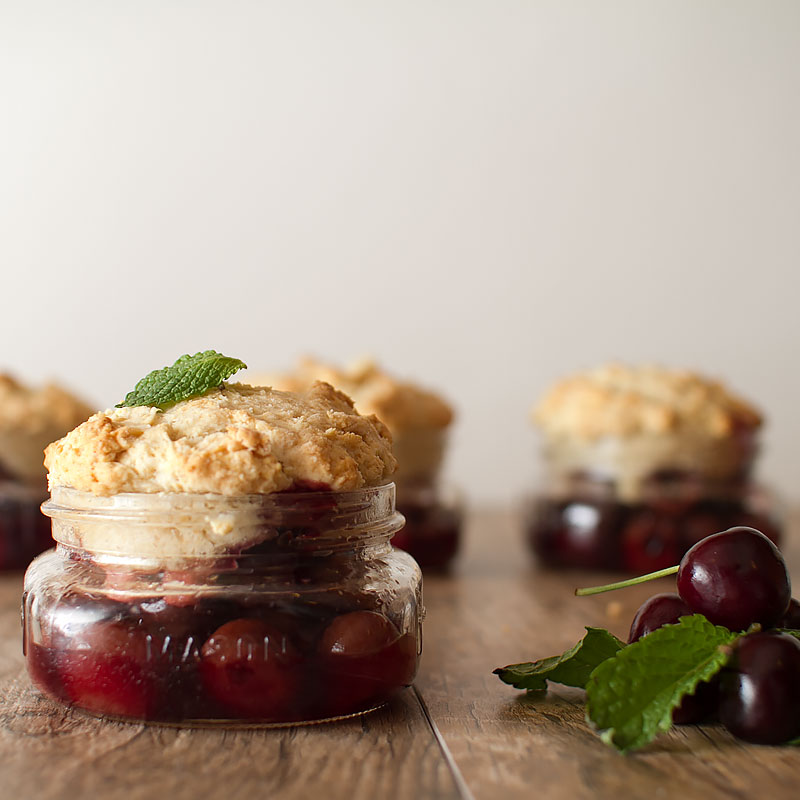 mini cherry cobbler recipe on fmitk.com