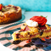 strawberry cornmeal cake recipe on fmitk.com