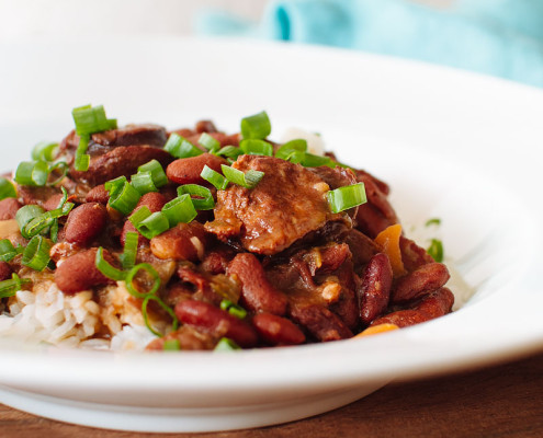 pressure cooker red beans and rice recipe on fmitk.com