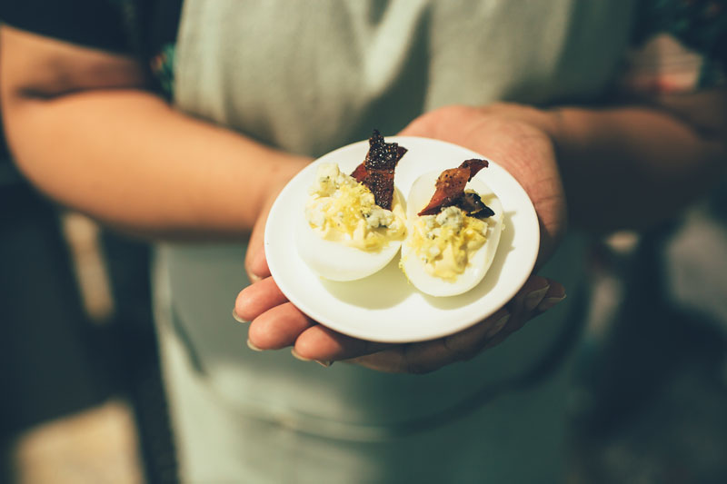 Next up, my personal favorite of the night - Shake Rag blue cheese and candied bacon deviled eggs with a little lemon zest. photo credit: Chantal Pasag | Pasagraphy